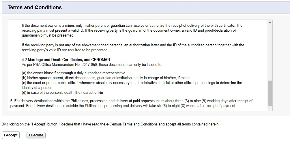cenomar online fees updates 1