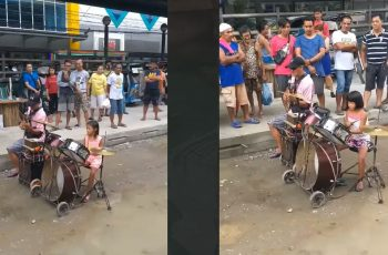 Siblings-Showcased-Their-Talents-in-Drums-to-Help-Their-Father-Who-is-a-PWD