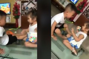 Boy-Hit-by-Sister,-Impressed-Everyone-When-He-Didn't-Fight-Back