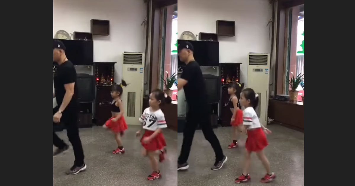 Two-Very-Young-Girls-Dancing-Gracefully