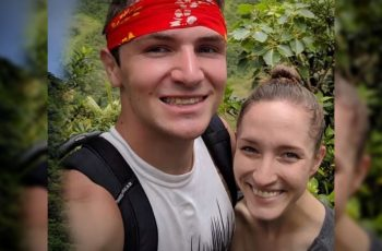 Newlywed Couple Saves Husband after Falling into Volcano